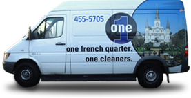 One Cleaners New Orleans Delivery Van
