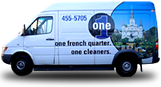 One Cleaners delivery van