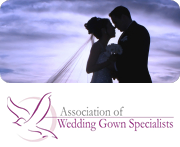 wedding couple, member of Association of Wedding Gown Specialists